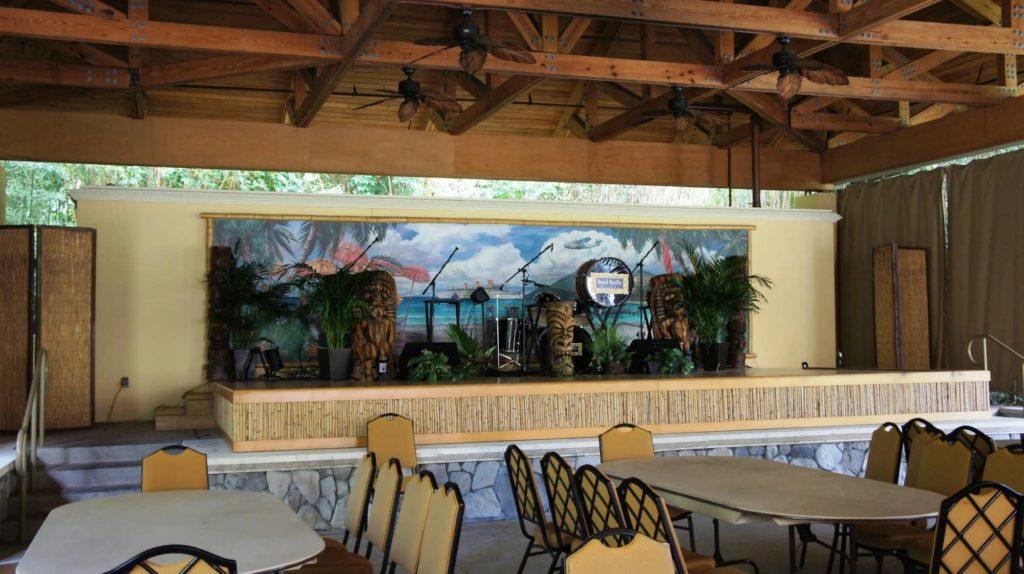 Wantilan Luau stage at Loews Royal Pacific Resort