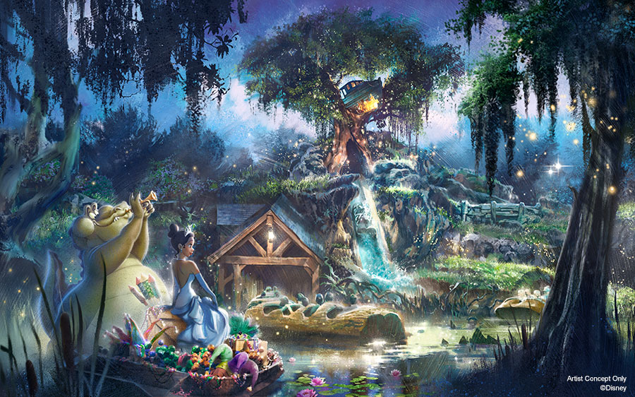 The Princess and the Frog Splash Mountain Reimagining Concept Art