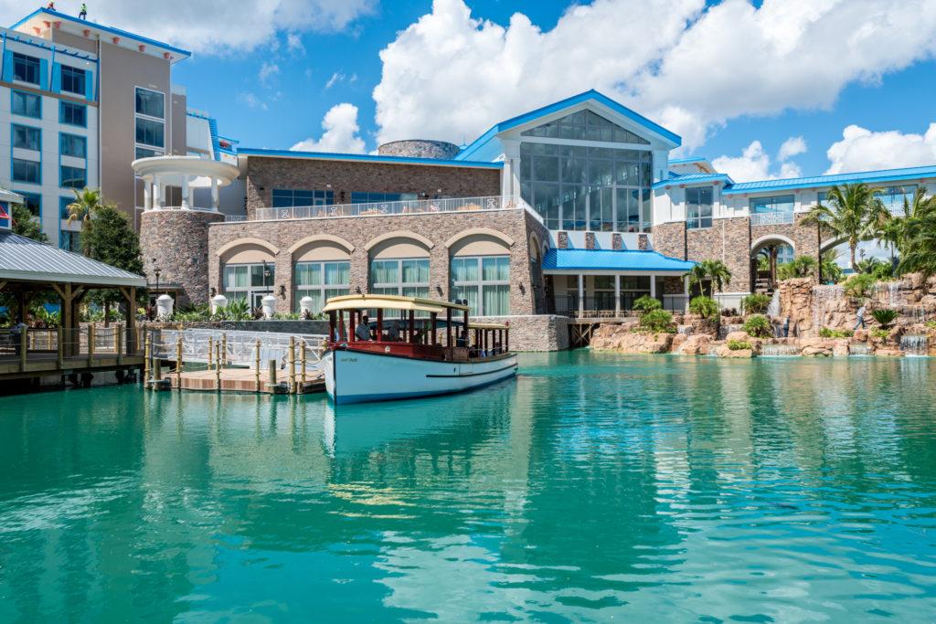 Loews Sapphire Falls Resort water taxi dock