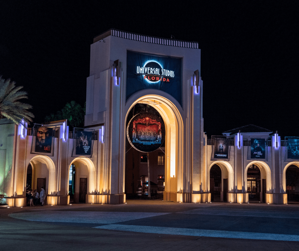 The entrance to Halloween Horror Nights