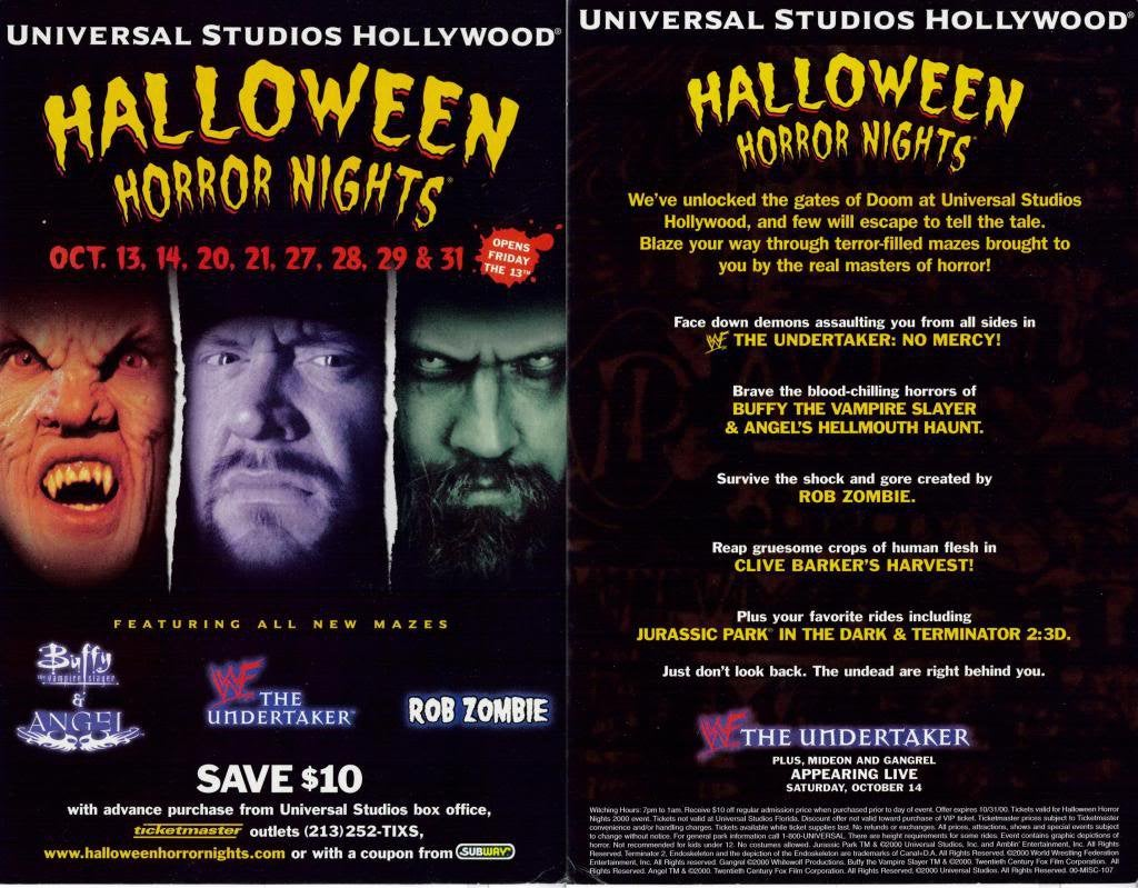 HHN Hollywood 2000