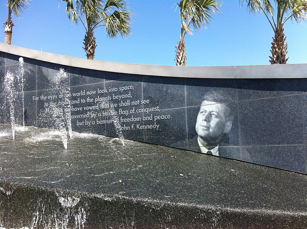 The Kennedy Fountain at the Kennedy Space Center