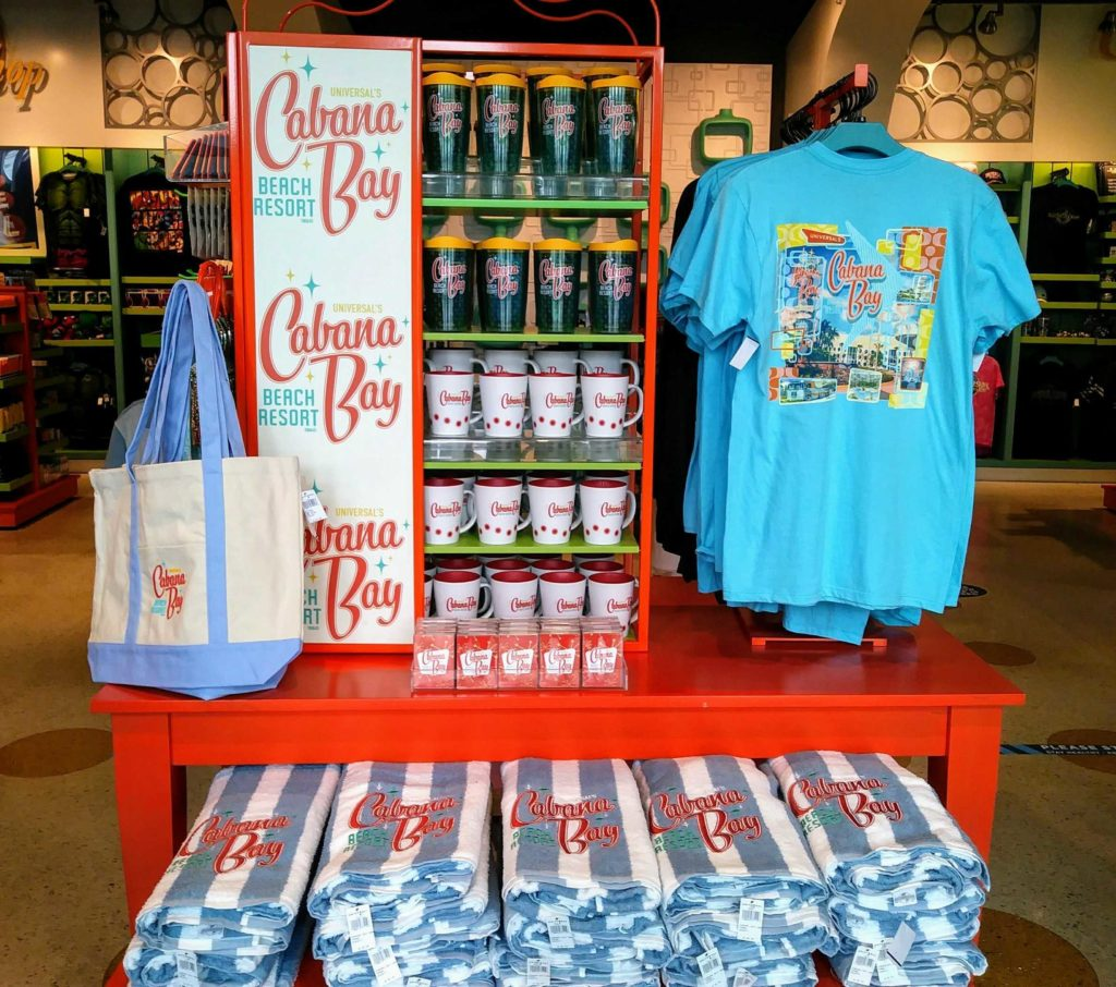 Just some of the merch you can find at Cabana Bay Beach Resort