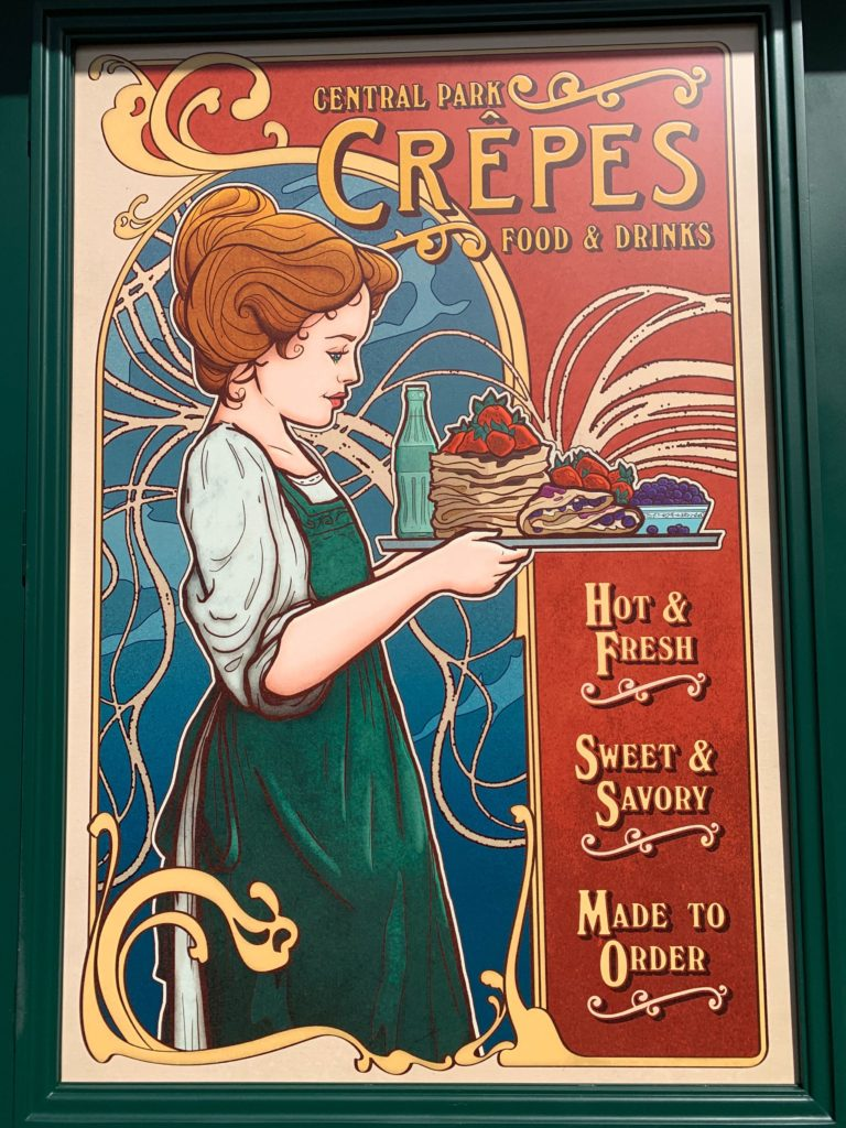 Central Park Crepes sign