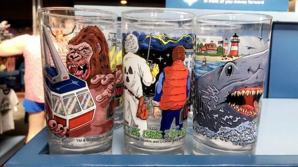 "Universal's ""original attraction collection"" glassware"