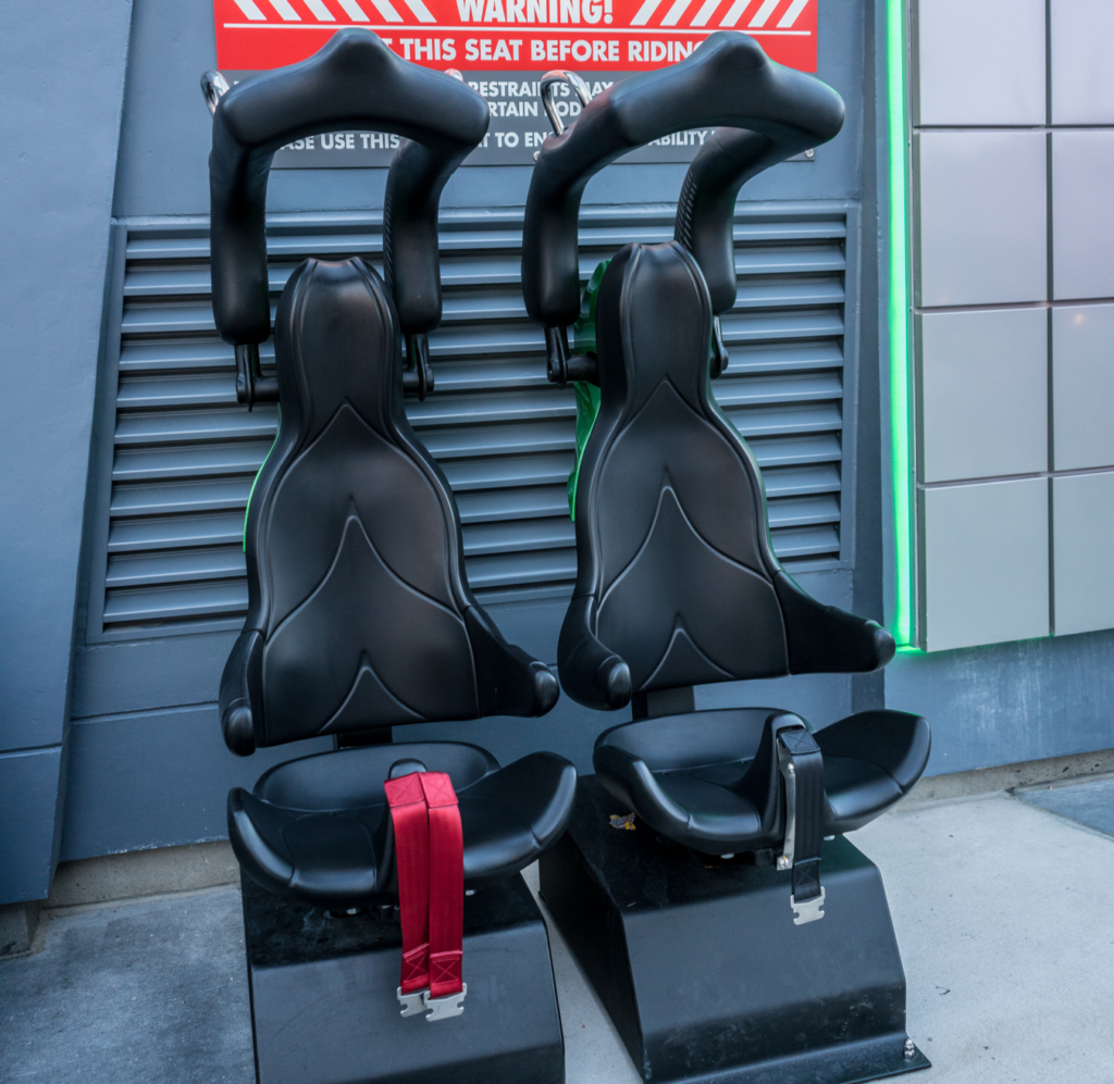 The Incredible Hulk Coaster test seats