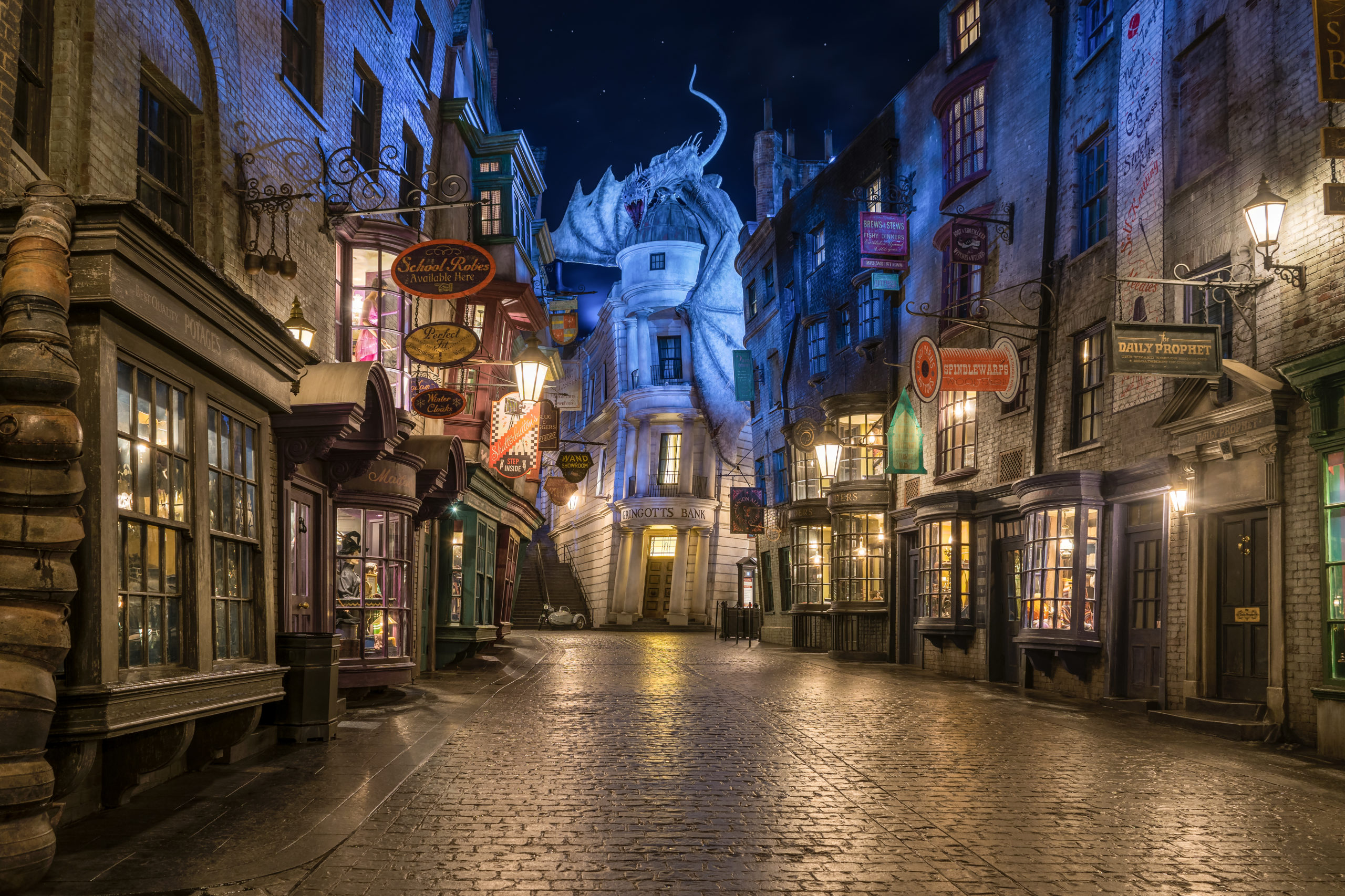 Diagon Alley in The Wizarding World of Harry Potter