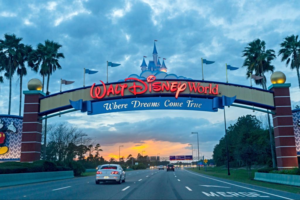 Property entrance at Walt Disney World Resort