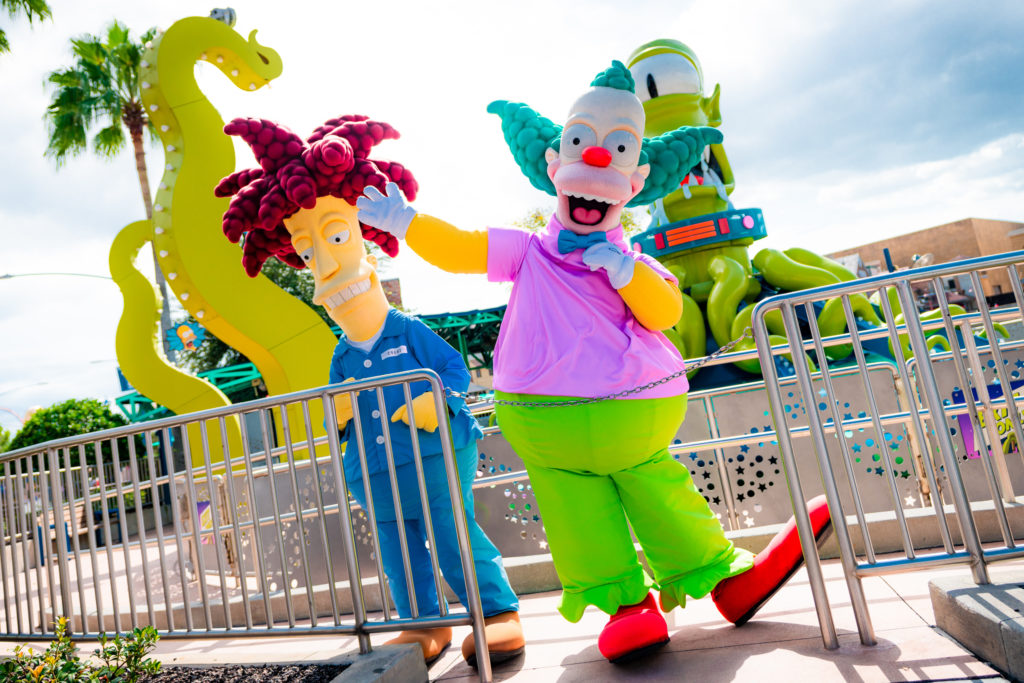 Character meet-'n-greets at Universal Orlando's Springfield Home of the Simpsons