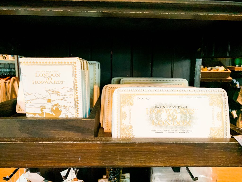 London to Hogwarts merch at Universal Orlando