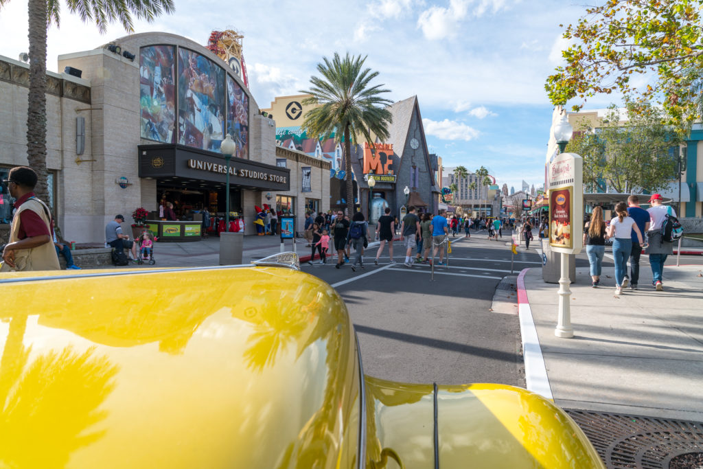 The streets of Production Central are lined with shops and attractions