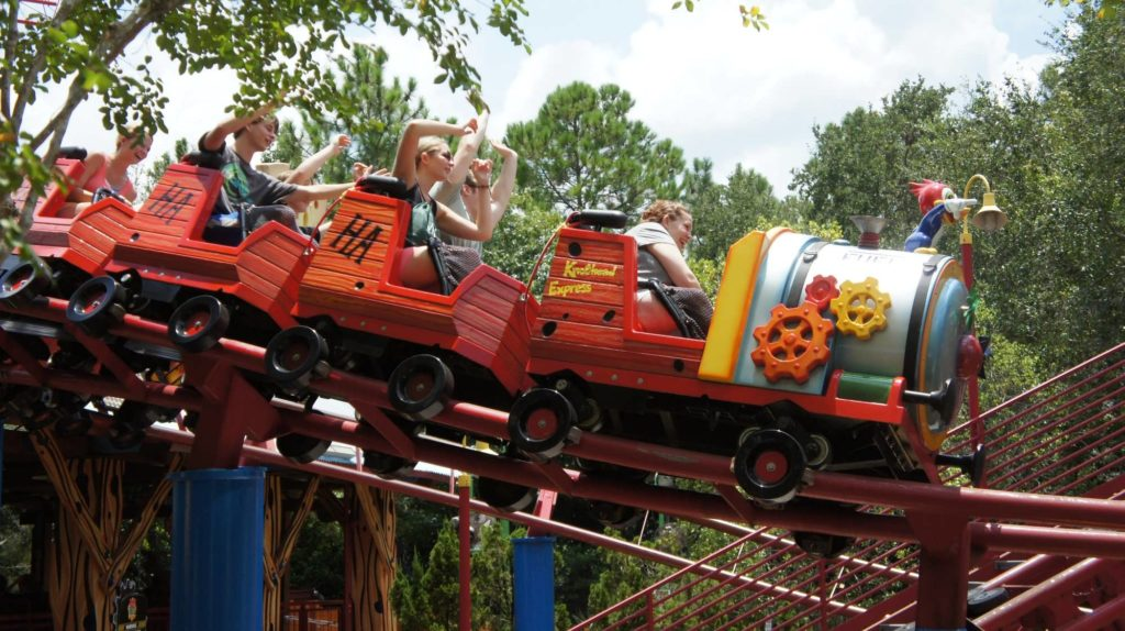 Woody Woodpecker's Nuthouse Coaster at Universal Studios Florida