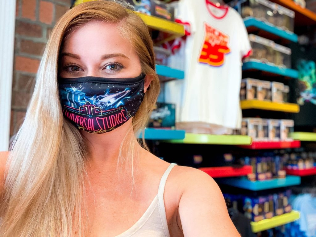 Back to the Future face mask at Universal Orlando