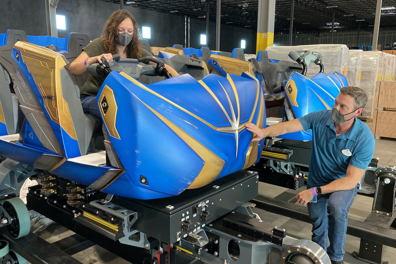 Guardians of the Galaxy: Cosmic Rewind's ride vehicle