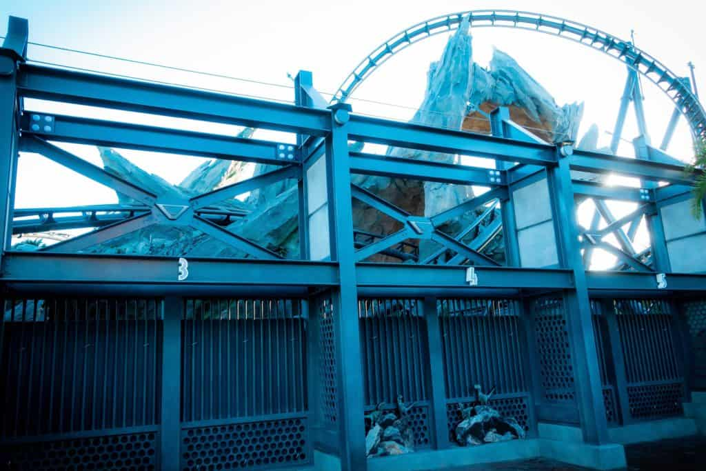 Jurassic World VelociCoaster's construction walls are down
