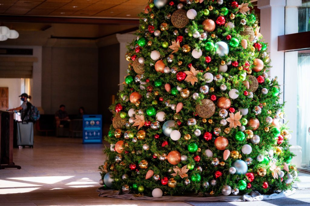 Royal Pacific Resort lobby Christmas tree