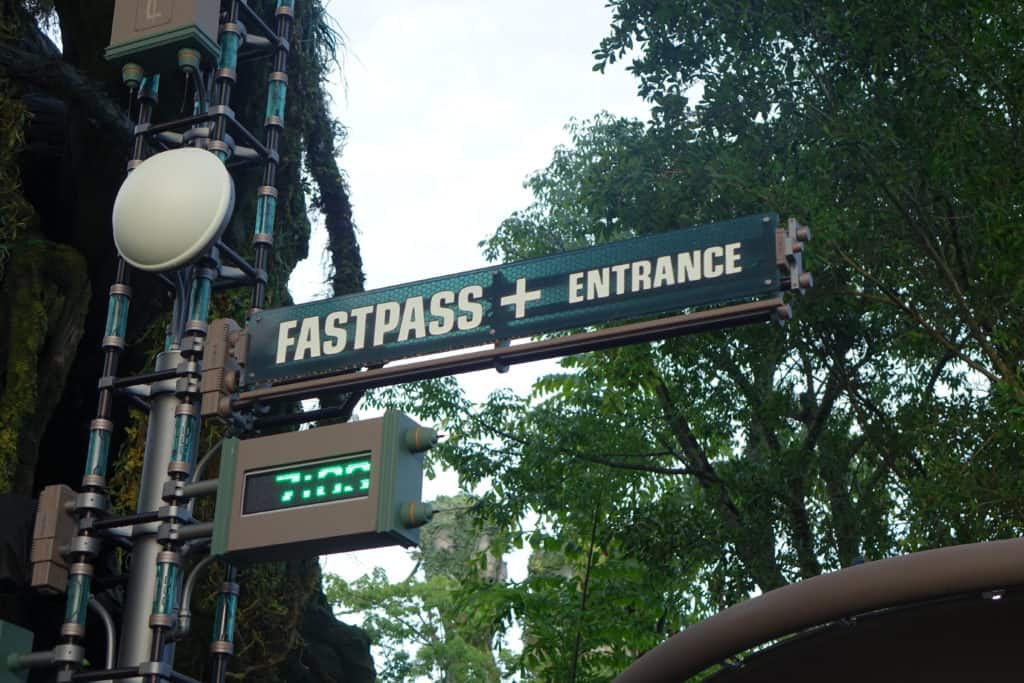 A FastPass+ entrance at Walt Disney World