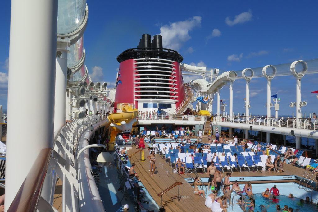 Disney Cruise deck pool