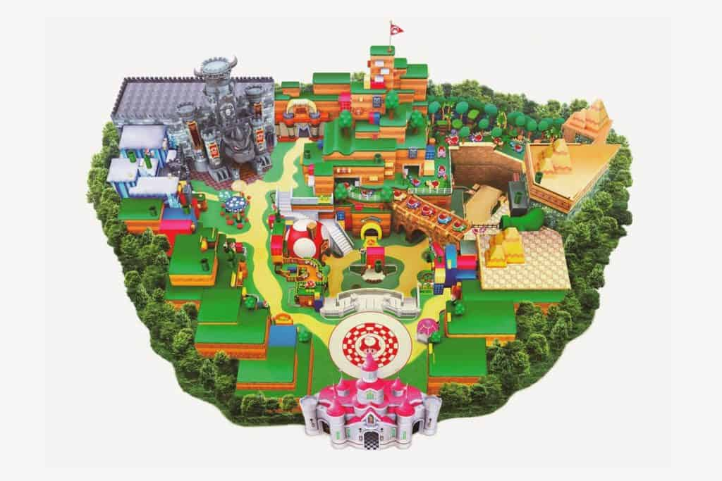 Super Nintendo World map at Universal Studios Japan