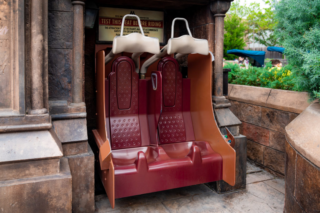 Test seats for Harry Potter and the Forbidden Journey
