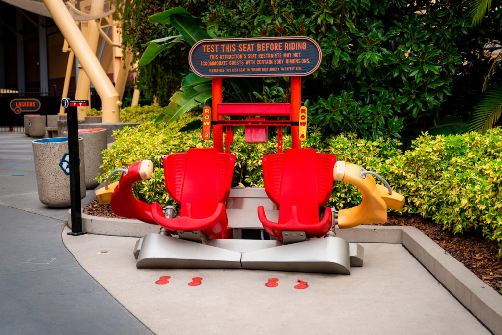 Test seats for Hollywood Rip Ride Rockitt