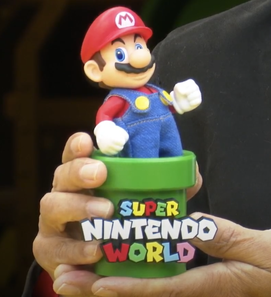 Tokotoko Mario moves very convincingly at Super Nintendo World
