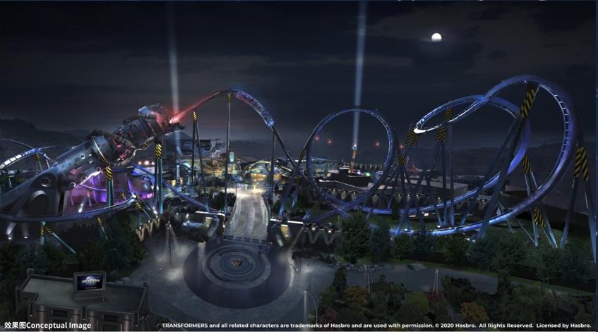 Decepticoaster conceptual artwork at Universal Studios Beijing