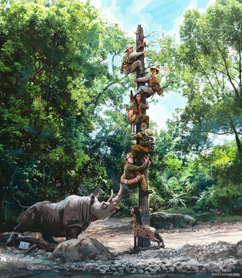 "Jungle Cruise ""story update"" concept art"