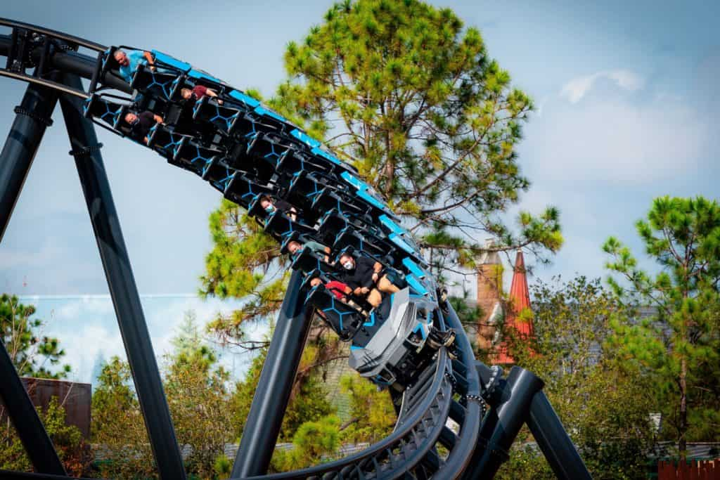 Jurassic World VelociCoaster testing with live riders