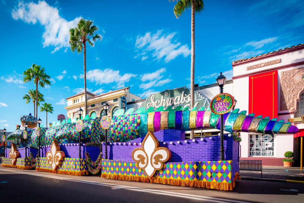 King Gator float at Mardi Gras 2021