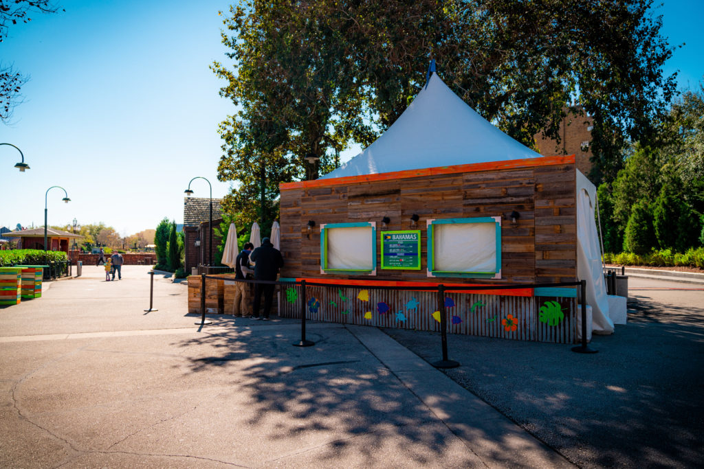 Bahamas food tent at Universal's Mardi Gras 2021