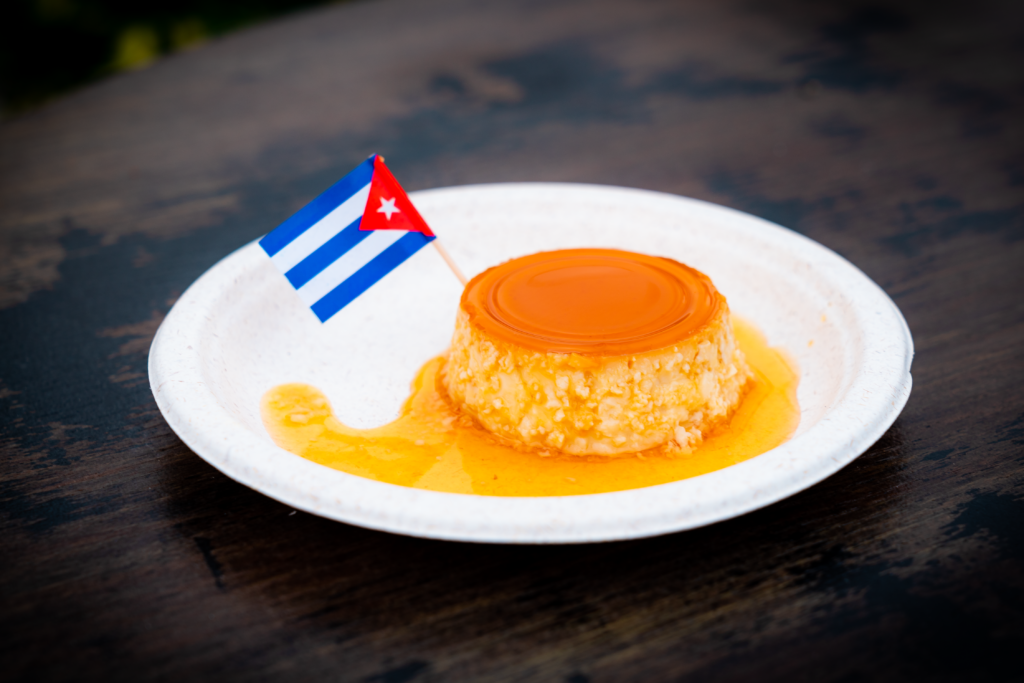 Cuban Flan at Mardi Gras 2021