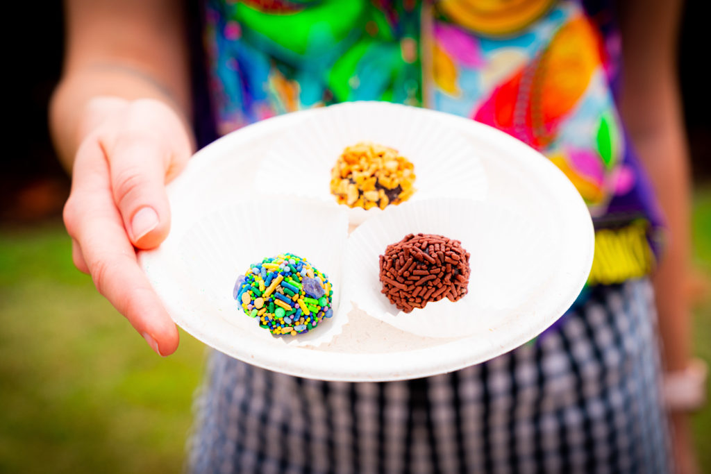 Brigadeiros from Brazil at Mardi Gras 2021