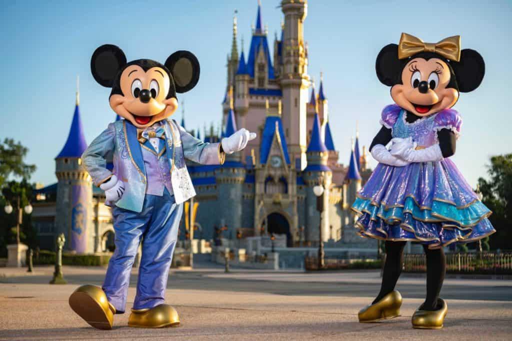 Disney World's 50th anniversary -- Mickey and Minnie's new looks
