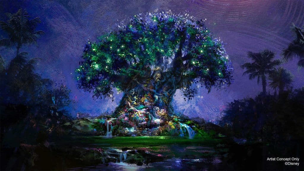 The Tree of Life makeover for Disney World's 50th anniversary celebration
