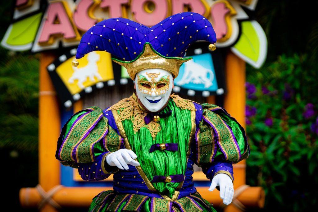 Mardi Gras 2021 performer at Universal Studios Florida