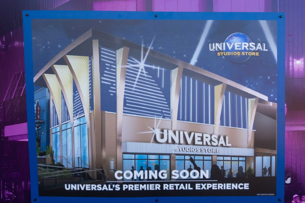 New Universal Studios Store concept art at CityWalk