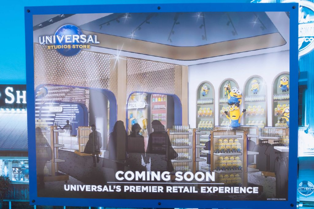 New Universal Studios Store concept art at CityWalk