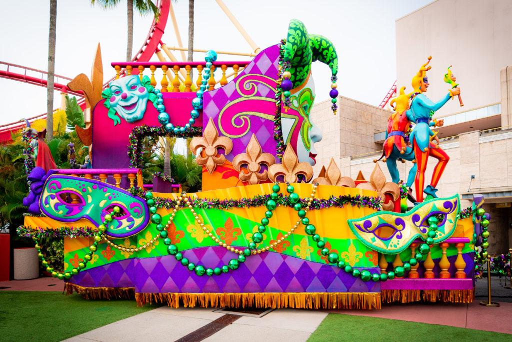Parade float at Mardi Gras 2021