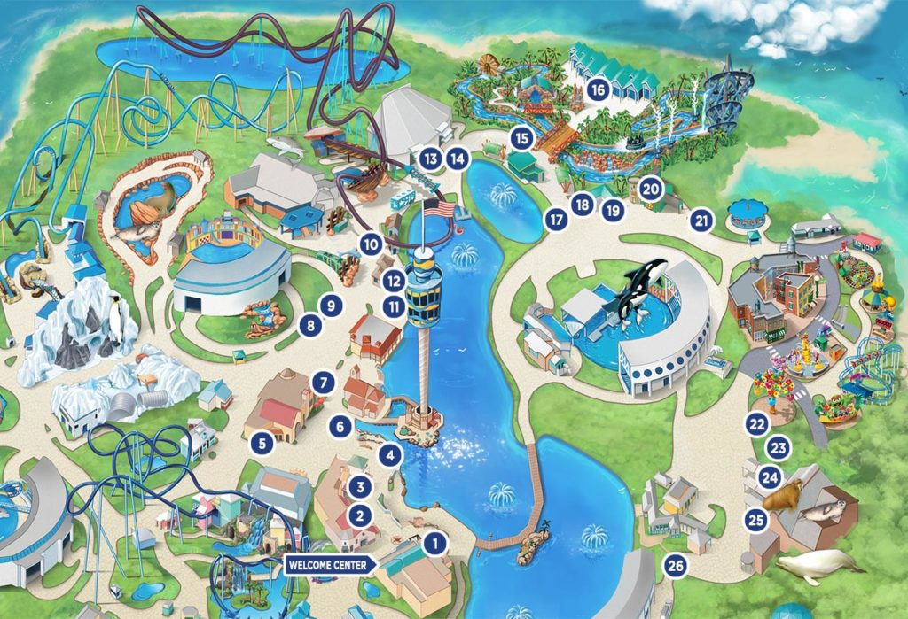 SeaWorld Seven Seas Food Festival 2021 map