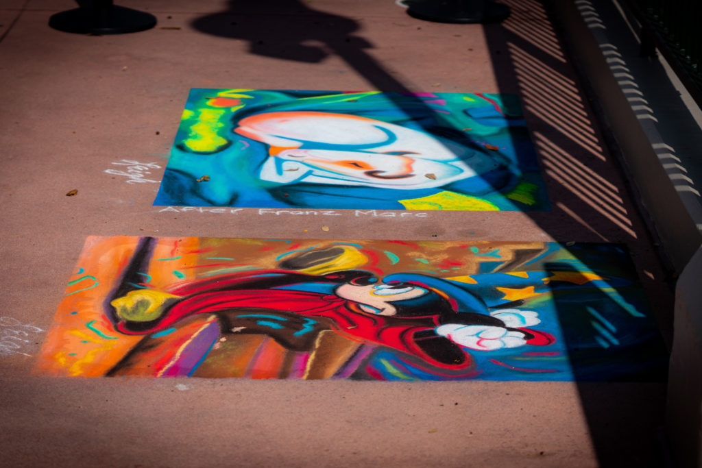 Taste of EPCOT International Festival of the Arts 2021 chalk art