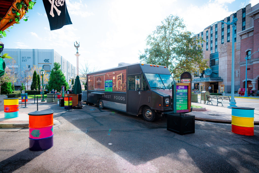 Trinidad and Tobago food truck at Universal's Mardi Gras 2021