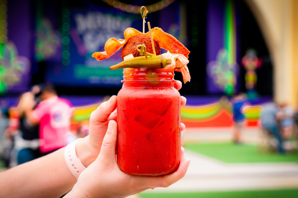 Wild Bloody Mary from New Orleans at Mardi Gras 2021