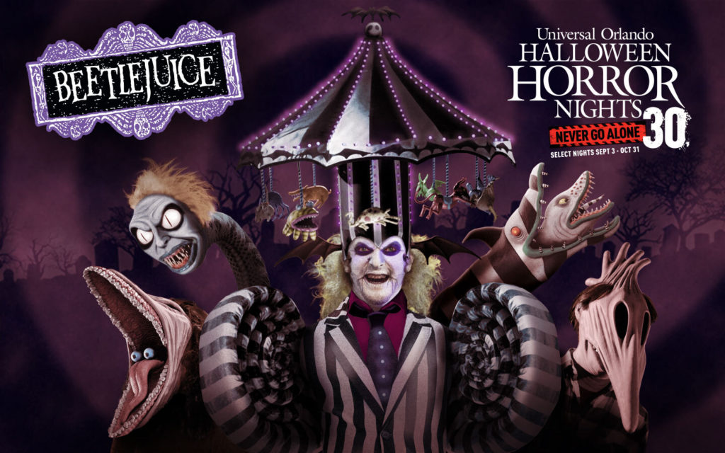 Beetlejuice haunted house at Halloween Horror Nights 2021