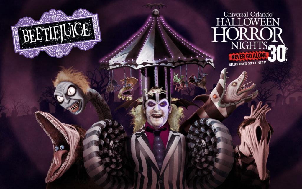 Beetlejuice haunted house at Halloween Horror Nights 2021
