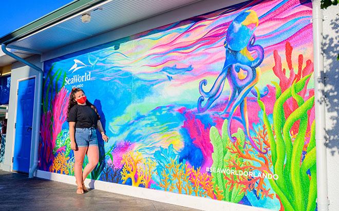 SeaWorld Orlando's Instagram wall