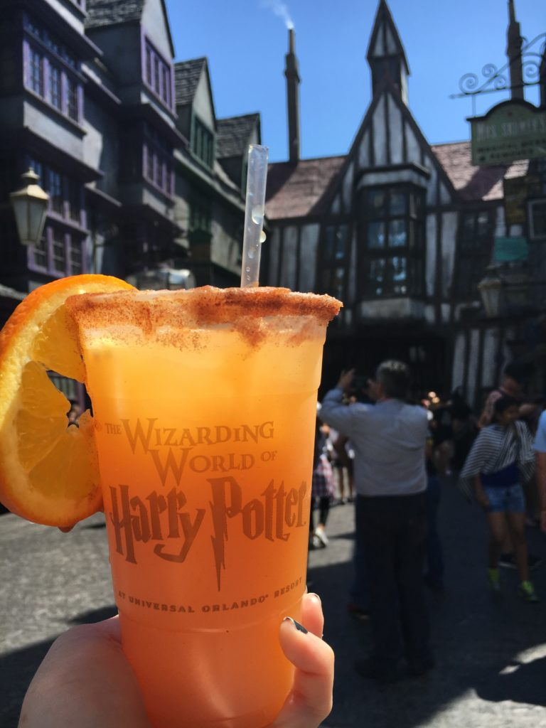 Otter's Fizzy Orange Juice at The Hopping Pot in Diagon Alley