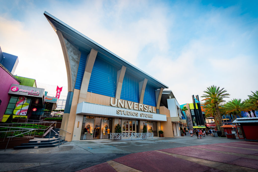 The exterior of the new Universal Studios Store
