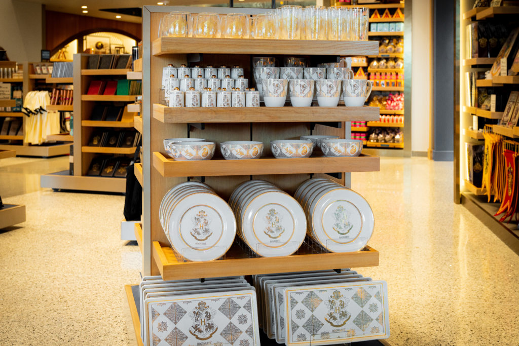 Some of the new - and stylish - Wizarding World kitchenware at the new Universal Studios Store