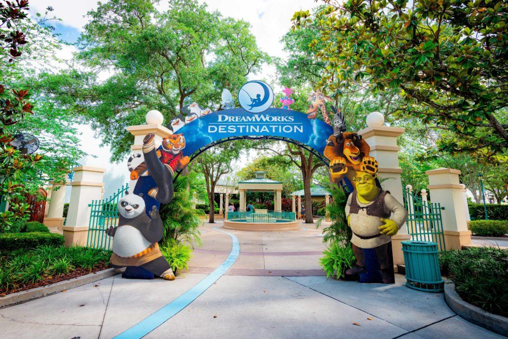 DreamWorks Destination entryway at Universal Studios Florida